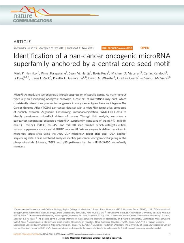 ARTICLE Received 9 Jul 2013 | Accepted 9 Oct 2013 | Published 13 Nov 2013  DOI: 10.1038/ncomms3730  OPEN  Identification of...