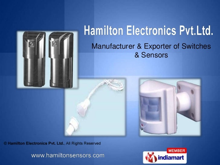 Manufacturer & Exporter of Switches <br />& Sensors<br />