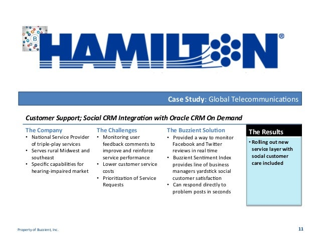 Case  Study:  Global  Telecommunica/ons   The  Company   • Na/onal  Service  Provider   of  triple-‐...