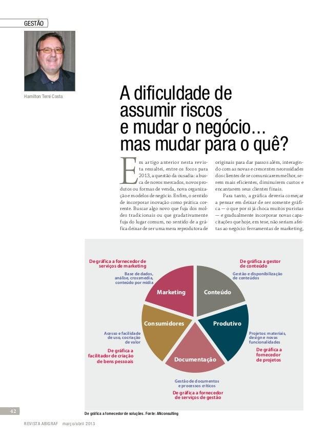 A dificuldade deassumir riscose mudar o negócio...mas mudar para o quê?Em artigo anterior nesta revis-ta ressaltei, entr...