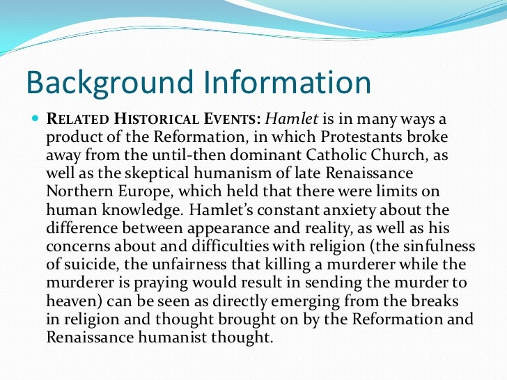hamlet essay background informationiuml130151