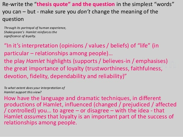 hamlet essay test questions Possible essay questions what does shakespeare suggest about the role of women in hamlet how does shakespeare present the idea of madness in hamlet 'seems, madam.