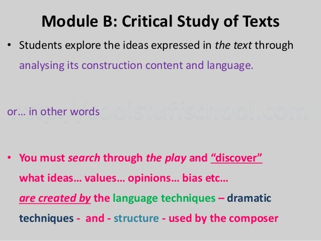 module a comparative study of texts Section i — module a: comparative study of texts and context 20 marks  attempt question 1 allow about 40 minutes for this section answer the question  in a.