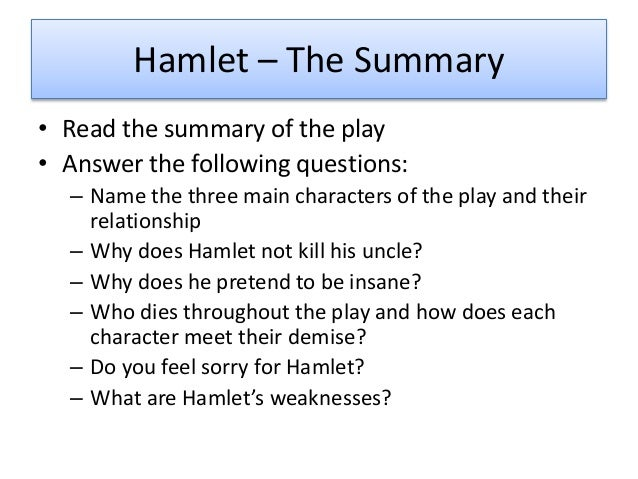 hamlet plot analysis essay