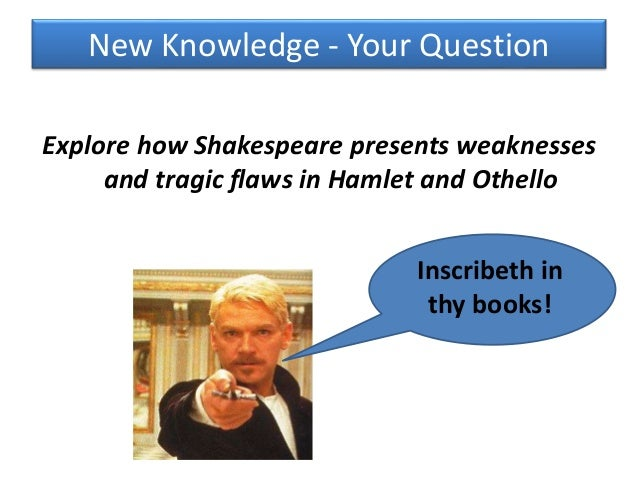 What is Hamlet's tragic flaw?