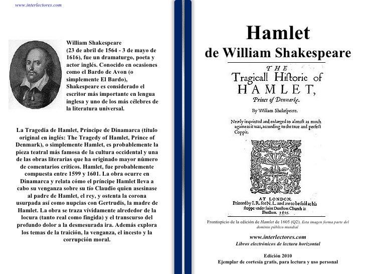 1 1 1 1 1 1 1 1 1 1 1 1 1 1 1 1 1 1 1 1 1 1 1 1 La Tragedia de Hamlet, Príncipe de Dinamarca (título original en inglés: T...