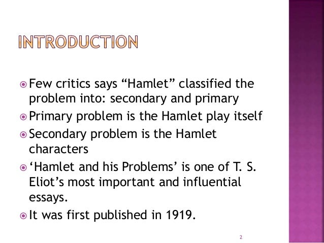 hamlet and his problems ts eliot