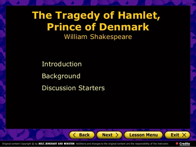 Hamlet As A Tragedy