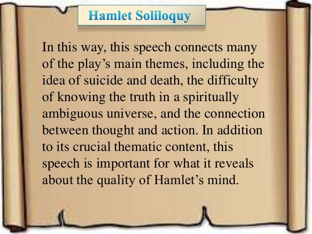 hamlet 7 soliloquies essay Phd thesis economic load dispatch hamlet soliloquy essay college essays - analysis of hamlets soliloquies act 4 scene 4 this essay hamlet soliloquy.