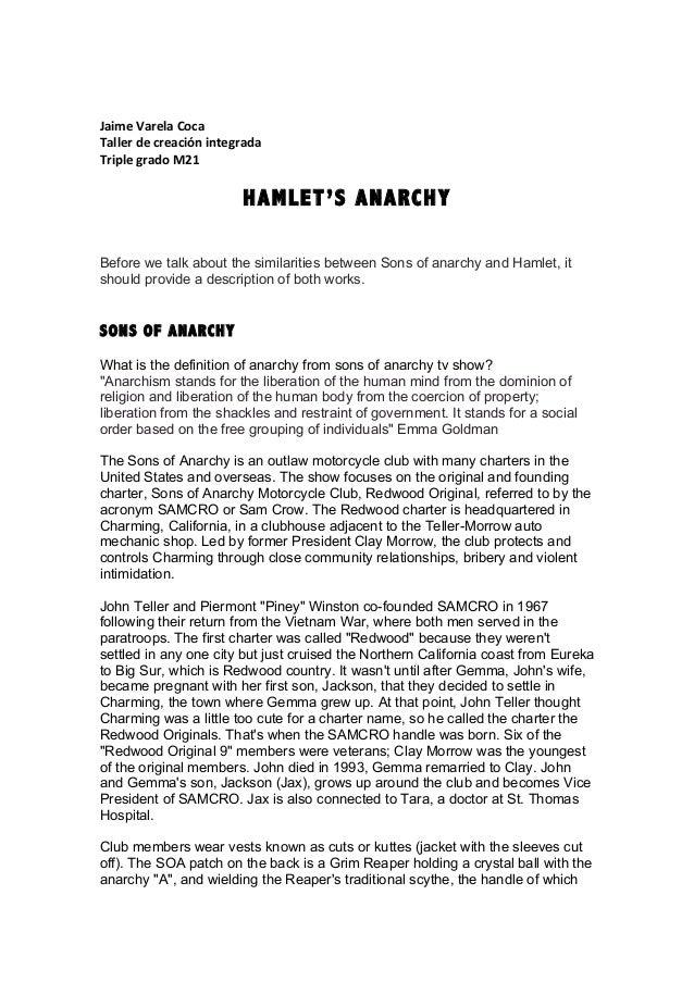 Jaime  Varela  Coca   Taller  de  creación  integrada   Triple  grado  M21      HAMLET'S ANAR...