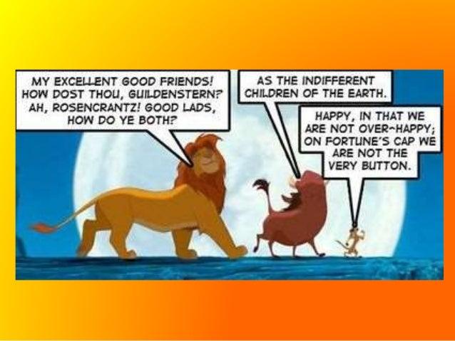 hamlet vs lion king essay