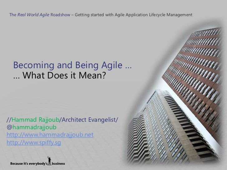 agile like you mean it Agile software development describes an approach to software development under which requirements and solutions evolve through the collaborative effort of.