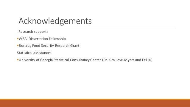 Dissertation writing fellowship food