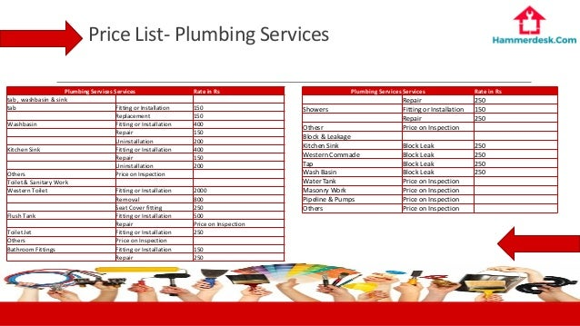 of rate ideas price plumbing services image regarding incredible flat home images list