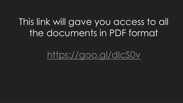 This link will gave you access to all the documents in PDF format https://goo.gl/dIcS0v