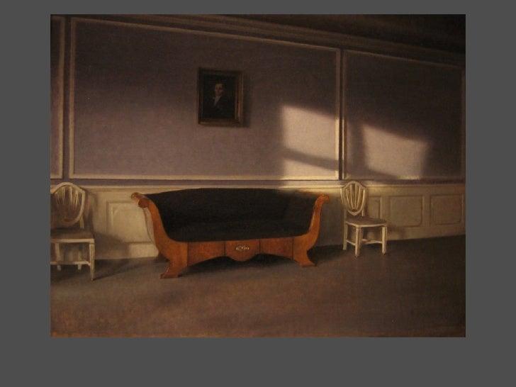 P Ilsted Print Sunlit Room with Biedermeier Sofa