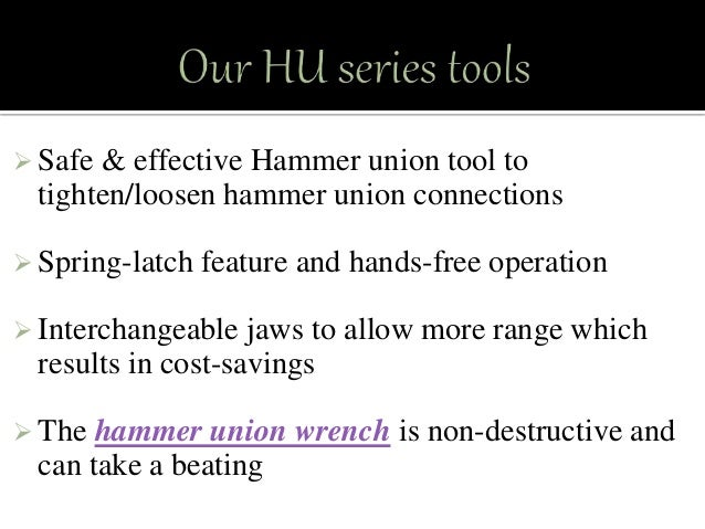 Hammer Union Wrench Tools At A Reasonable Price
