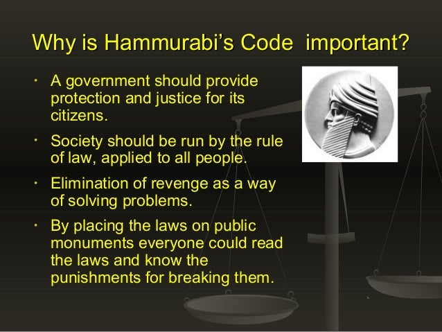 an analysis of hammurabi code 202 Hammurabi was the ruler of babylon from 1792 bc to 1750 bc (1) he is much  celebrated for proclaiming a set of laws, called the code of hammurabi (the.