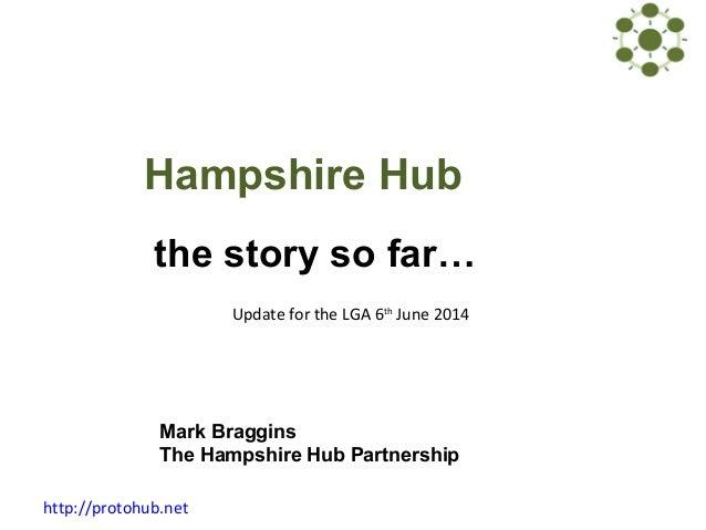 http://protohub.net Hampshire Hub the story so far… Mark Braggins The Hampshire Hub Partnership Update for the LGA 6th Jun...