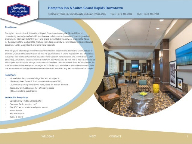 Hampton Inn Suites Grand Rapids Downtown Hotel Ebrochure Video