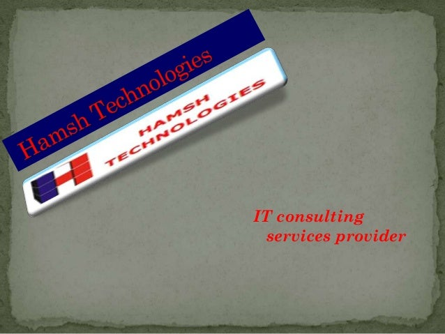 IT consulting services provider
