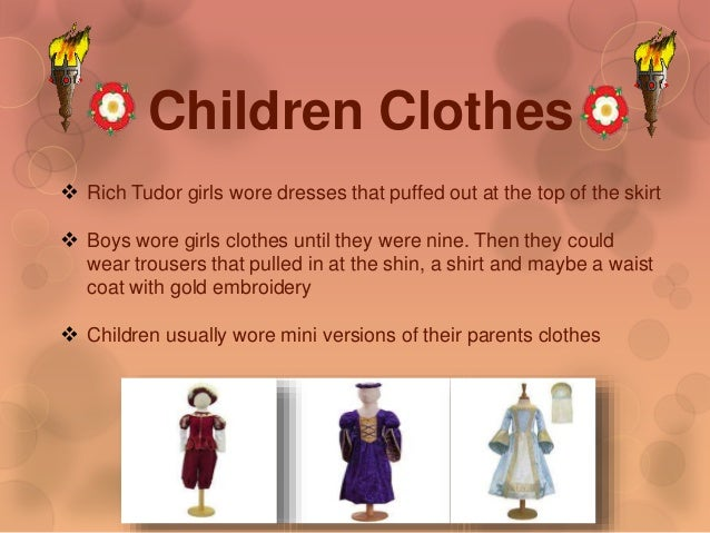 Tudor clothes homework help