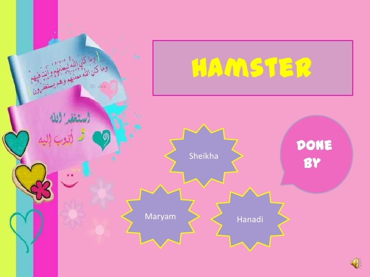 Hamster<br />Done by <br />Sheikha<br />Maryam<br />Hanadi<br />