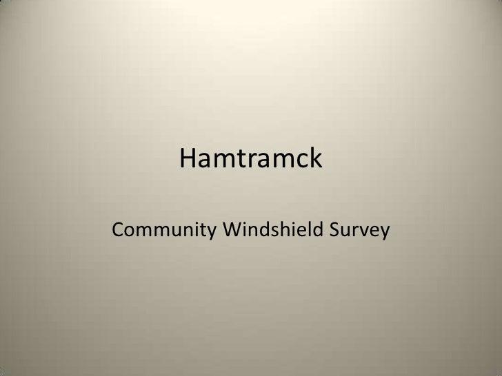 Hamtramck <br />Community Windshield Survey<br />