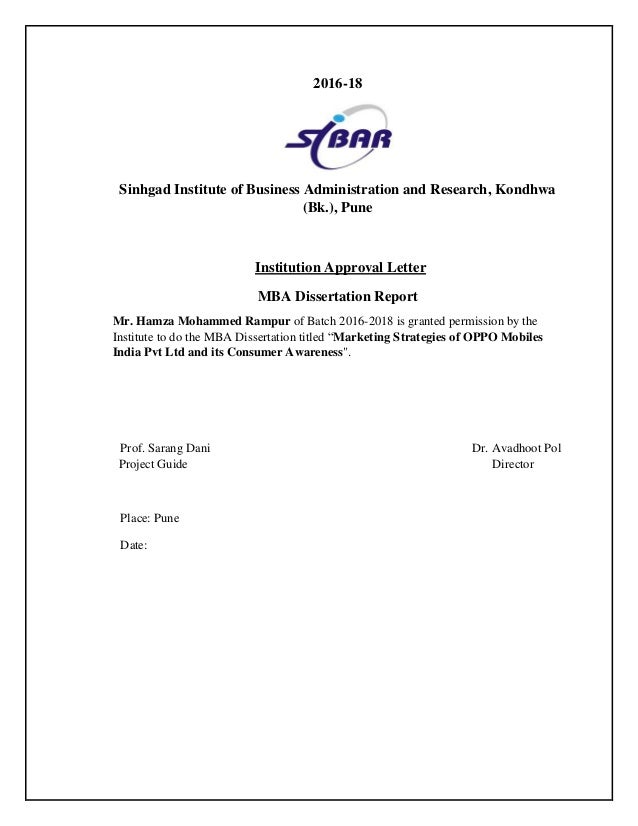 Dissertation report direct marketing