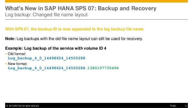 hana backup and recovery A backint backup call, hana allocates named pipes and passes their full  link in the online documentation for best practices for the configuration in commvault.