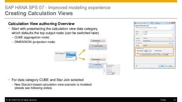 HANA SPS07 Modeling Enhancements