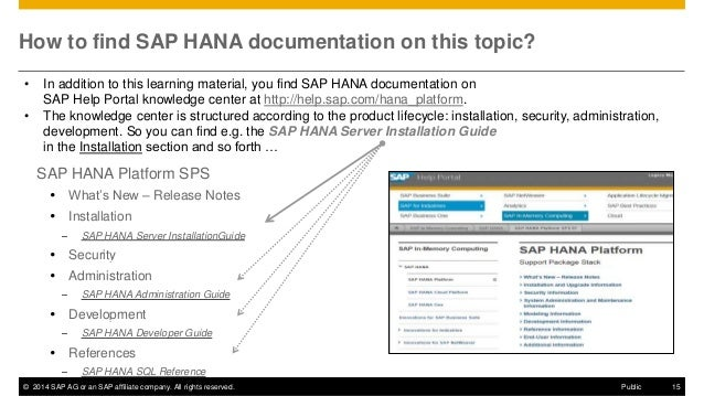 SAP HANA SPS08 Web-based Development Workbench