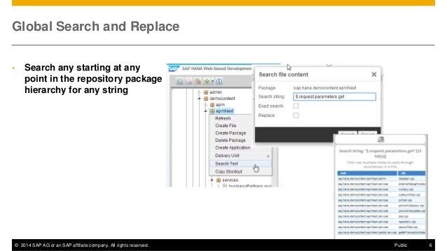 SAP HANA SPS08 Web-based Development Workbench