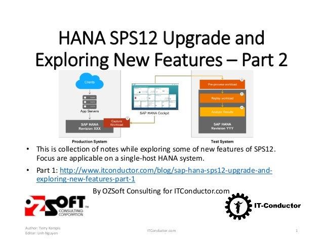 SAP HANA SPS12 Exploring New Features