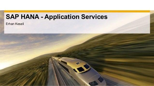 SAP HANA - Application ServicesErhan Keseli