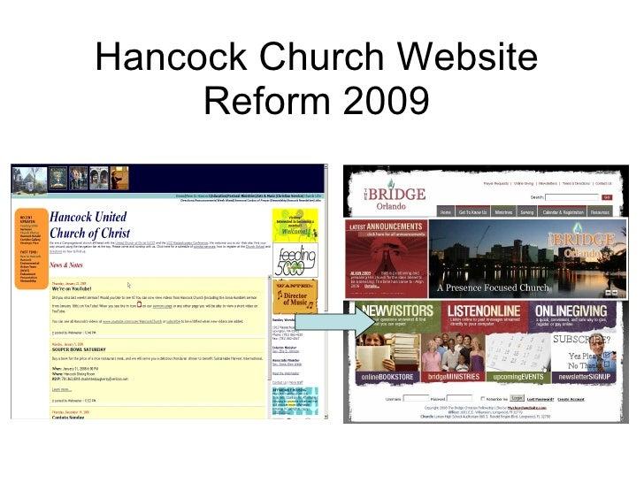 Hancock Church Website Reform 2009