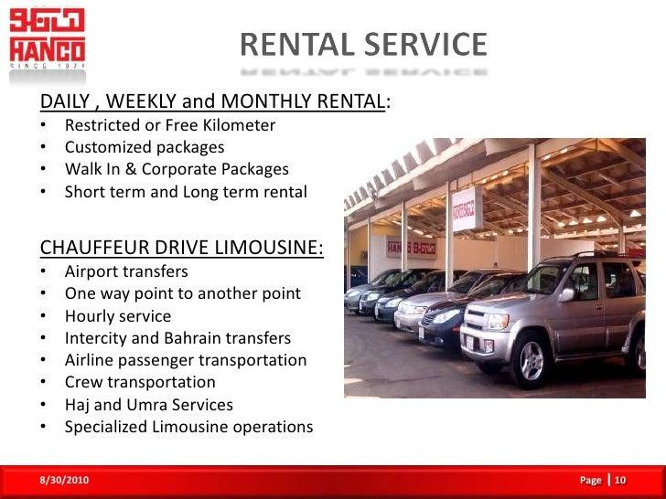 Hanco Rent A Car Jubail