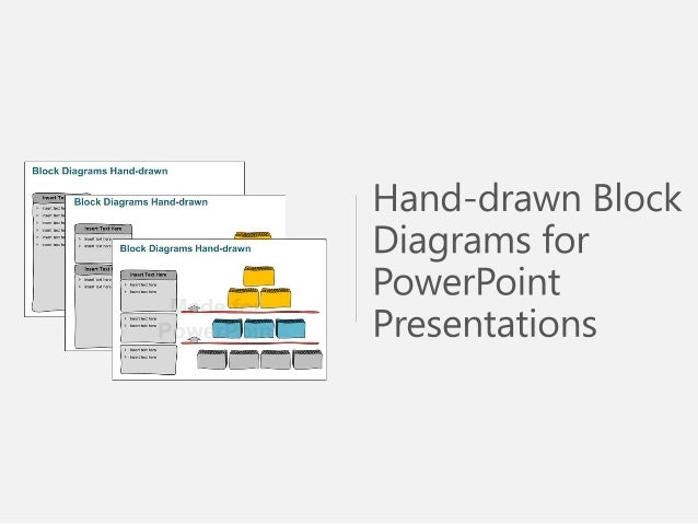 hand drawn block diagrams powerpoint presentations. Black Bedroom Furniture Sets. Home Design Ideas