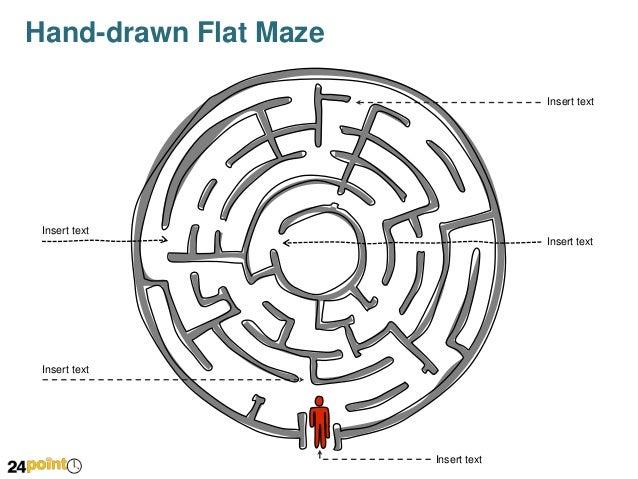 hand-drawn flat maze