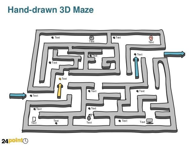 hand-drawn 3d maze