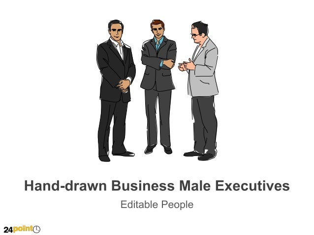Hand-drawn Business Male Executives
