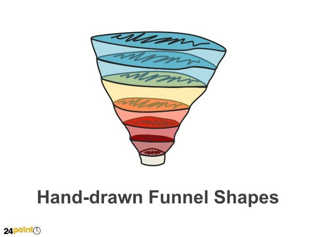 Hand-drawn Funnel Shapes  Insert text Insert text