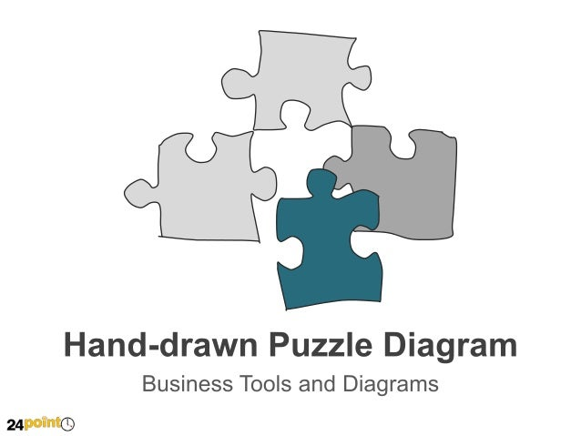 Hand-drawn Puzzle Diagram  Insert text Insert text  Insert text Insert text