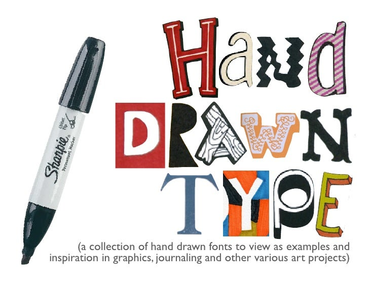 (a collection of hand drawn fonts to view as examples andinspiration in graphics, journaling and other various art projects)