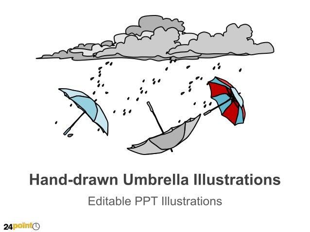 Hand-drawn Umbrella Illustrations  Accident  Health  Natural Disaster  Insert text  Insert text  Insert text
