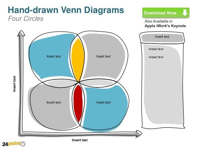 Hand drawn venn diagrams fully editable powerpoint slides 4 hand drawn venn diagrams ccuart Image collections