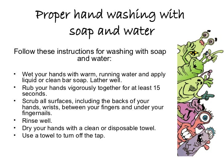 proper hand washing technique pdf