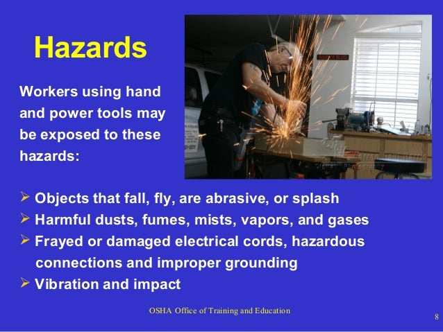 Hand And Power Tool Safety Power Point
