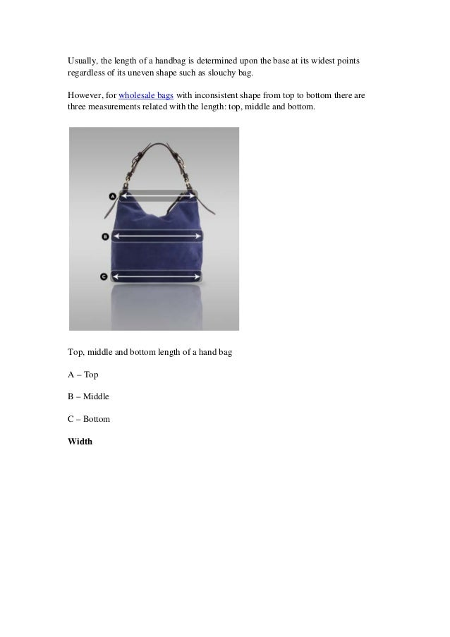 ae369a50d98 Handbag buying guide - critial tips for buying wholesale handbags