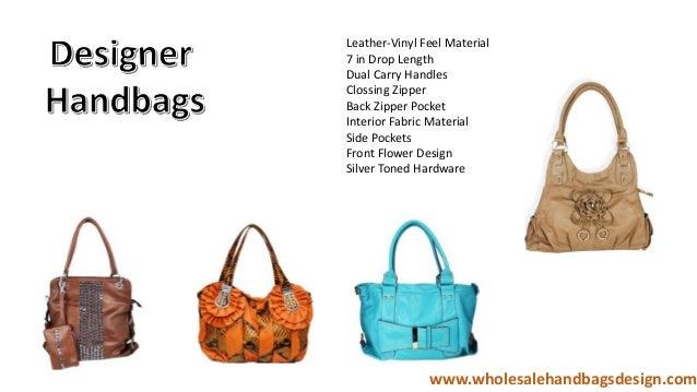 ... Design on Flap Interior Fabric Material Gold Toned Hardware www. wholesalehandbagsdesign.com  5. 1d220686c9
